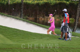 Michele Wie at the sand bunker