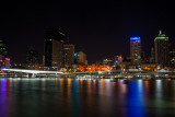 Night view of Brisbane from South Bank.