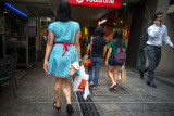 Shoppers at Queen Street Mall, Brisbane.