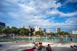 Street Beach in South Bank, Brisbane.