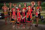 Bidayuh girls in traditional costume