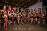 Bidayuh girls participating in Kumau Gawai