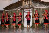 Bidayuh girls in a candle dance