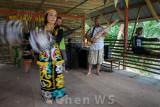 Orang Ulu dancer and sape musicians
