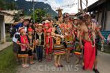 Gawai procession through Kampung Taee