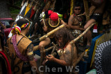 Musicians accompany the Gawai procession