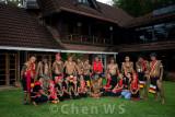 Bidayuh folks visits a home of respected elder