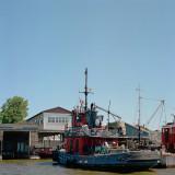 Utility boat docked at Clayton, NY