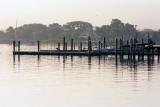 backlit dock