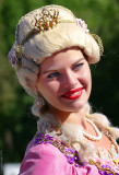 A Russian Beauty:you can see her at the entrance of the Catherine's Palace,St. Petersburg