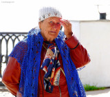 Elderly Woman Selling Laces, Yaroslavl, Volga River.