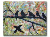 Sunrise Singers acrylic on  canvas 24x30