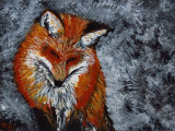Red Fox acrylic on gessboard 5x7