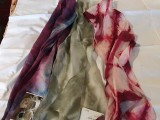 shibori dyed silk scarves