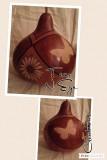 fitted gourd bowl butterflies-flower