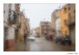 Carrer Mar sota la pluja. Rossell / Baix Maestrat / Castelló.