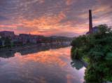 Sunrise, Seneca Falls, Seneca Canal.