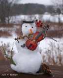 Snowman Fiddle Player