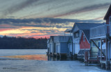 Sunset over the Boathouses