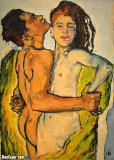 Lovers, c 1913, Koloman Moser