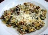 Pilzrisotto mit frischem parmesan (Mushroom risotto with fresh parmesan)