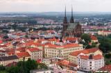 View of Brno, Czech Republic from Špilberk Castle (Hrad Špilberk).