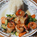 BBQ Prawns with Vegetables