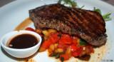Sirloin Steak, Istrian wine, Teran Sauce, ratatouille