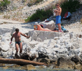 Sun Bathing is Popular
