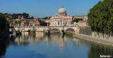 A look down the Tiber River towards the Vatican.