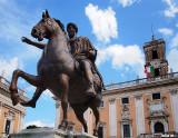 Equestrian Statue of Marcus Aurelius (replica) on Capitoline Hill.