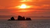 DSC01287 - Sunset at Shag Rocks