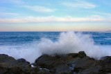 Surf breaking on the rocks at Pouch Cove