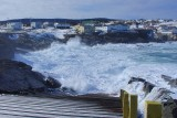 Boiling surf in the cove at Pouch Cove