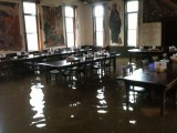 Monks Refectory as the water begins to Rise from the Bogue Falaya River