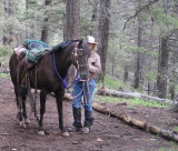 Sharing the Trail in the Pecos Wilderness, Cinching the Saddle