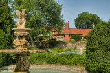 Cupid Fountain And Reflecting Pool With A View Of Cranbrook House
