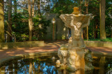 Fountain In The Pines And Bust Of Zeus