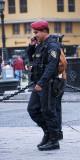 Plaza de Armas: A Happy Cop