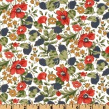 Fabric detail: Liberty's Poppy and Honesty, a classic design