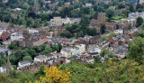 Looking down on Great Malvern, Worcestershire.