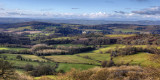 Looking West from Ragged Stone Hill, Malvern Hills.
