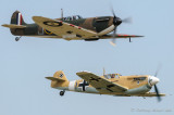 Spitfire P9374 and Buchon