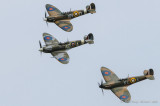 Three Horsemen mounted in Spitfires