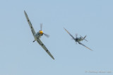 Buchon (Me109) with Spitfire on its tail