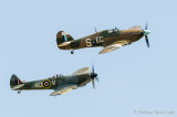 Spitfire TE311 and Hurricane PZ865