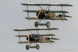 Great war duo: Fokker Dr1 Triplanes