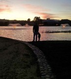 Father Daughter at the Pond
