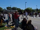 nice crowd at Price Chopper corner