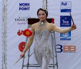 Start of her performance